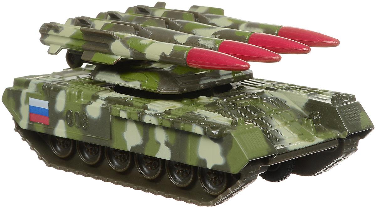 Фото ТехноПарк Танк инерционный с ракетной установкой цвет хаки. Купить  в РФ
