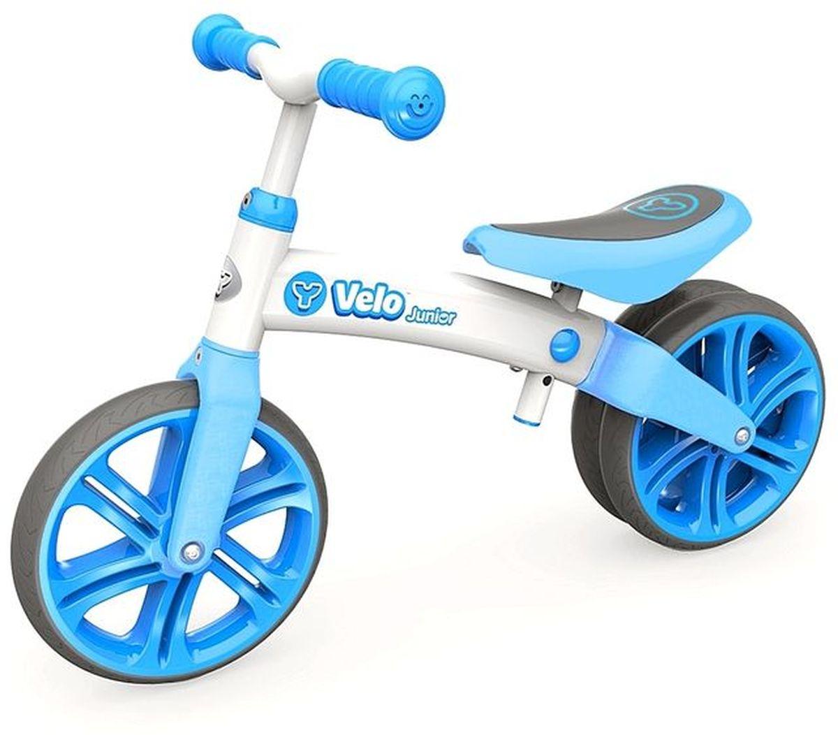 Y-Volution Беговел двухколесный Velo Junior с двойным колесом цвет голубой -  Беговелы
