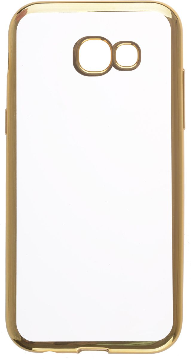 Фото Skinbox 4People Silicone Chrome Border чехол для Samsung Galaxy A5 (2017), Gold. Купить  в РФ