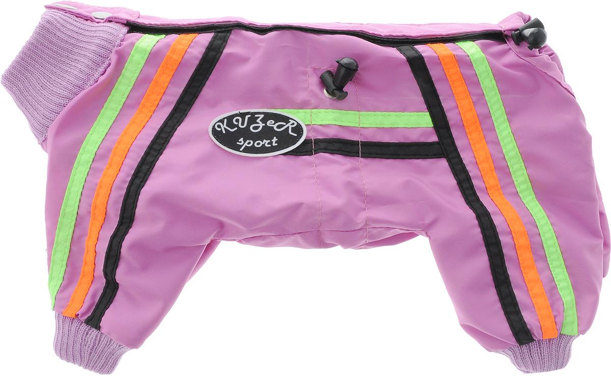Комбинезон для собак Kuzer-Moda  Спринт , для девочки, двуслойный, цвет: розовый, оранжевый. Размер 21