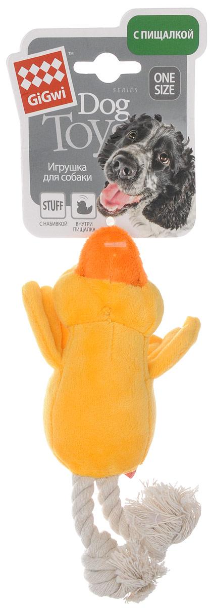 """Фото Игрушка для собак GiGwi """"Утка"""", с пищалкой, длина 15 см. Купить  в РФ"""