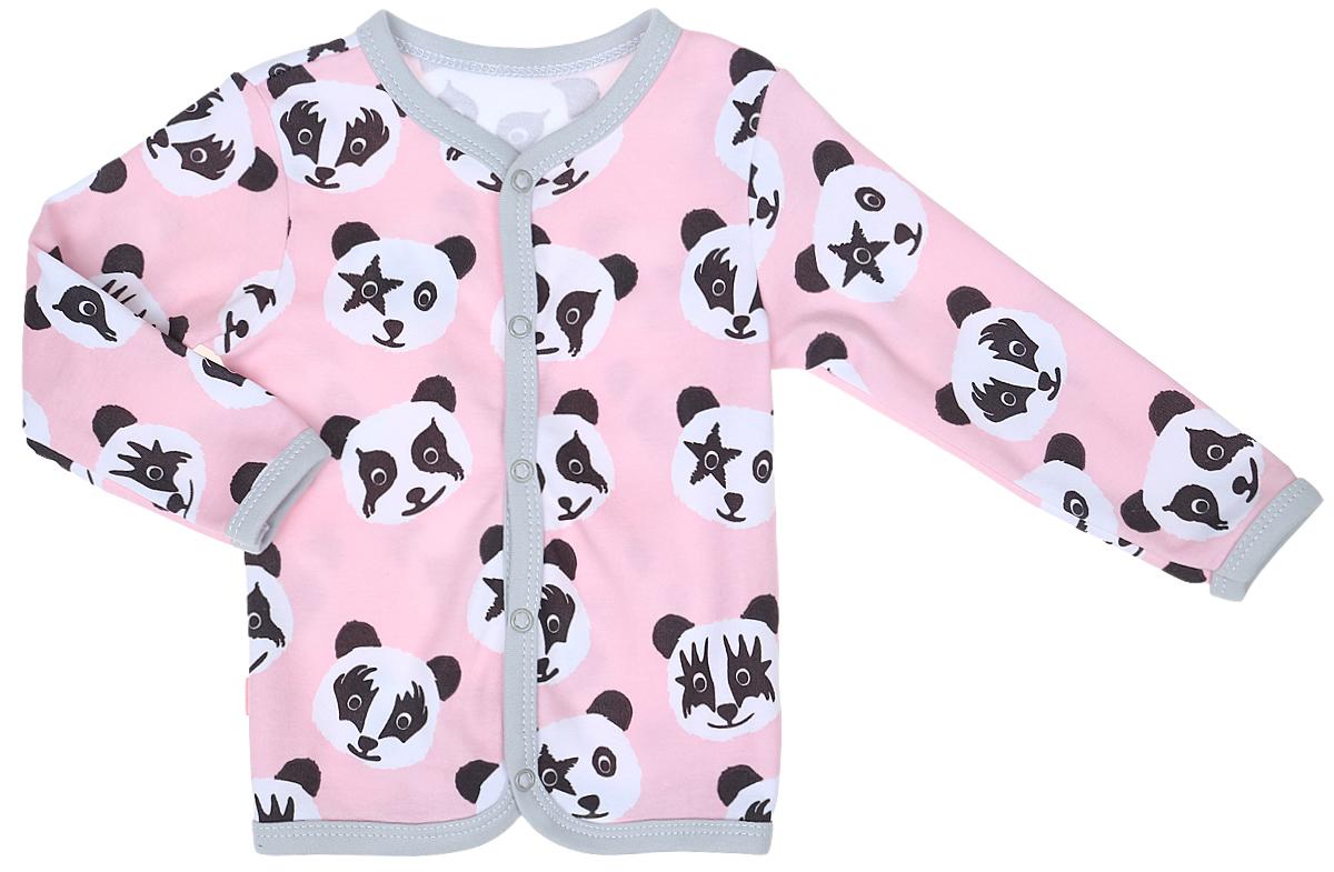 Фото Кофта для девочки КотМарКот, цвет: розовый, белый, черный. 7122. Размер 86. Купить  в РФ
