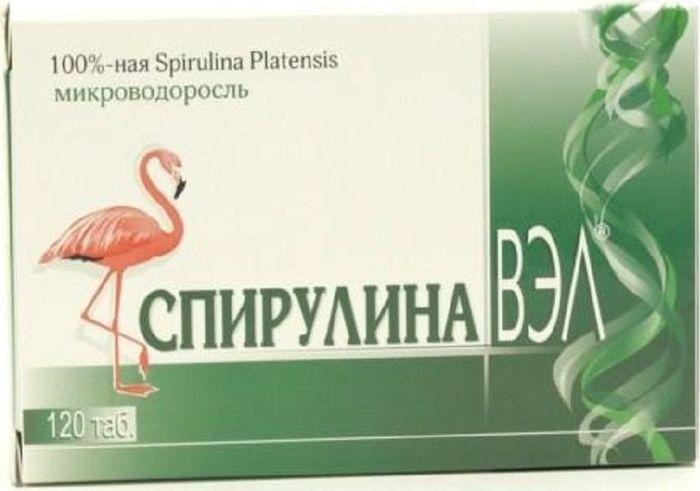 Фото Спирулина ВЭЛ таблетки №120. Купить  в РФ