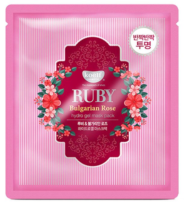 Фото Koelf Маска для лица гидрогелевая с экстрактом болгарской розы Ruby & Bulgarian Rose, 30 гр. Купить  в РФ