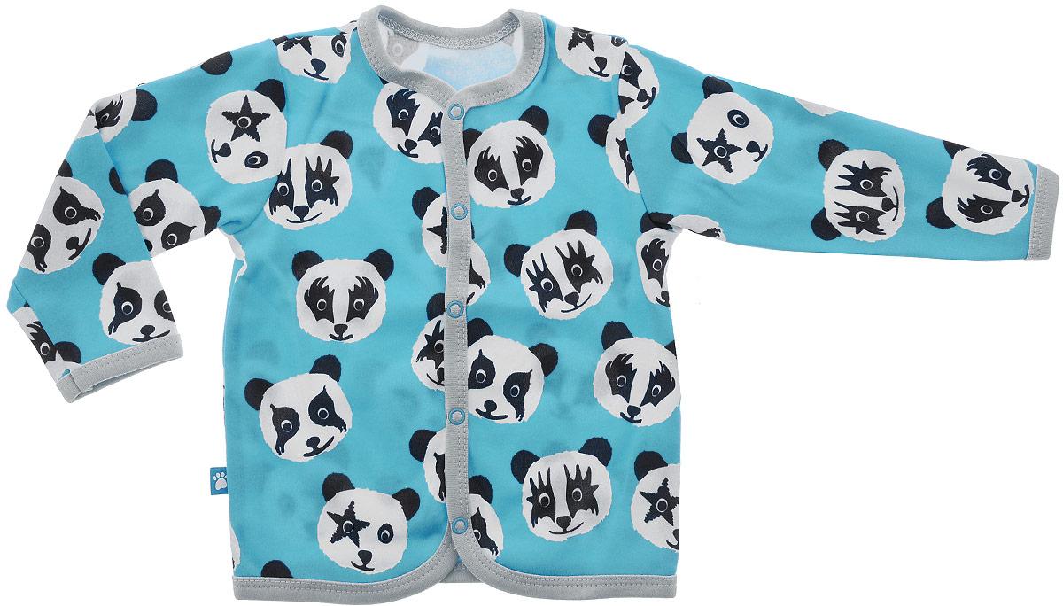 Фото Кофта для мальчика КотМарКот, цвет: бирюзовый, черный, серый. 7120. Размер 86. Купить  в РФ