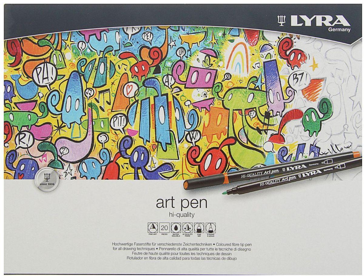 LYRA Набор фломастеров Hi-Quality Art Pen 20 цветов -  Фломастеры