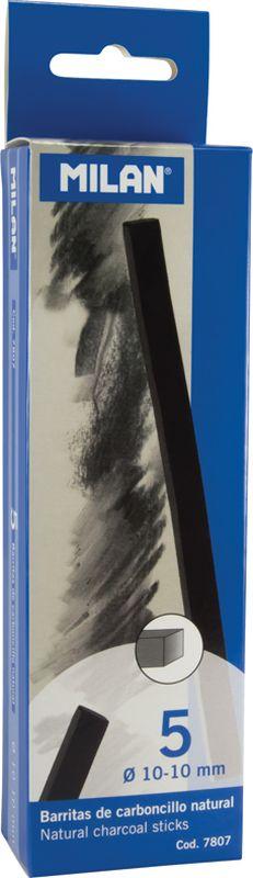 Milan Уголь для рисования прямоугольный 10-10 мм 5 шт -  Мелки и пастель