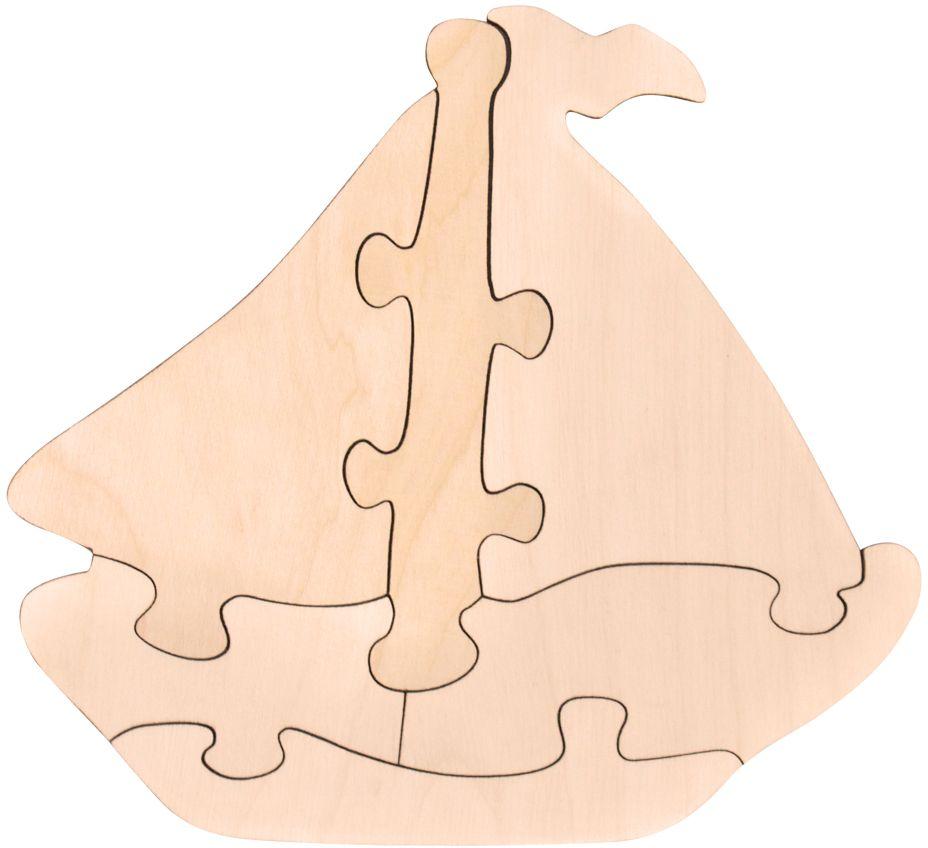 Фото Игрушки Тимбергрупп Пазл-раскраска Кораблик. Купить  в РФ