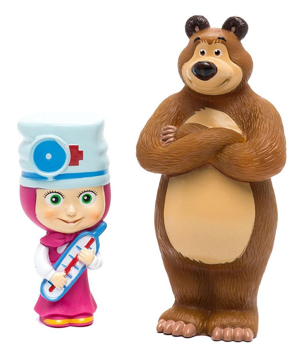 Фото Маша и Медведь Набор игрушек для ванной Маша-доктор и Мишка. Купить  в РФ