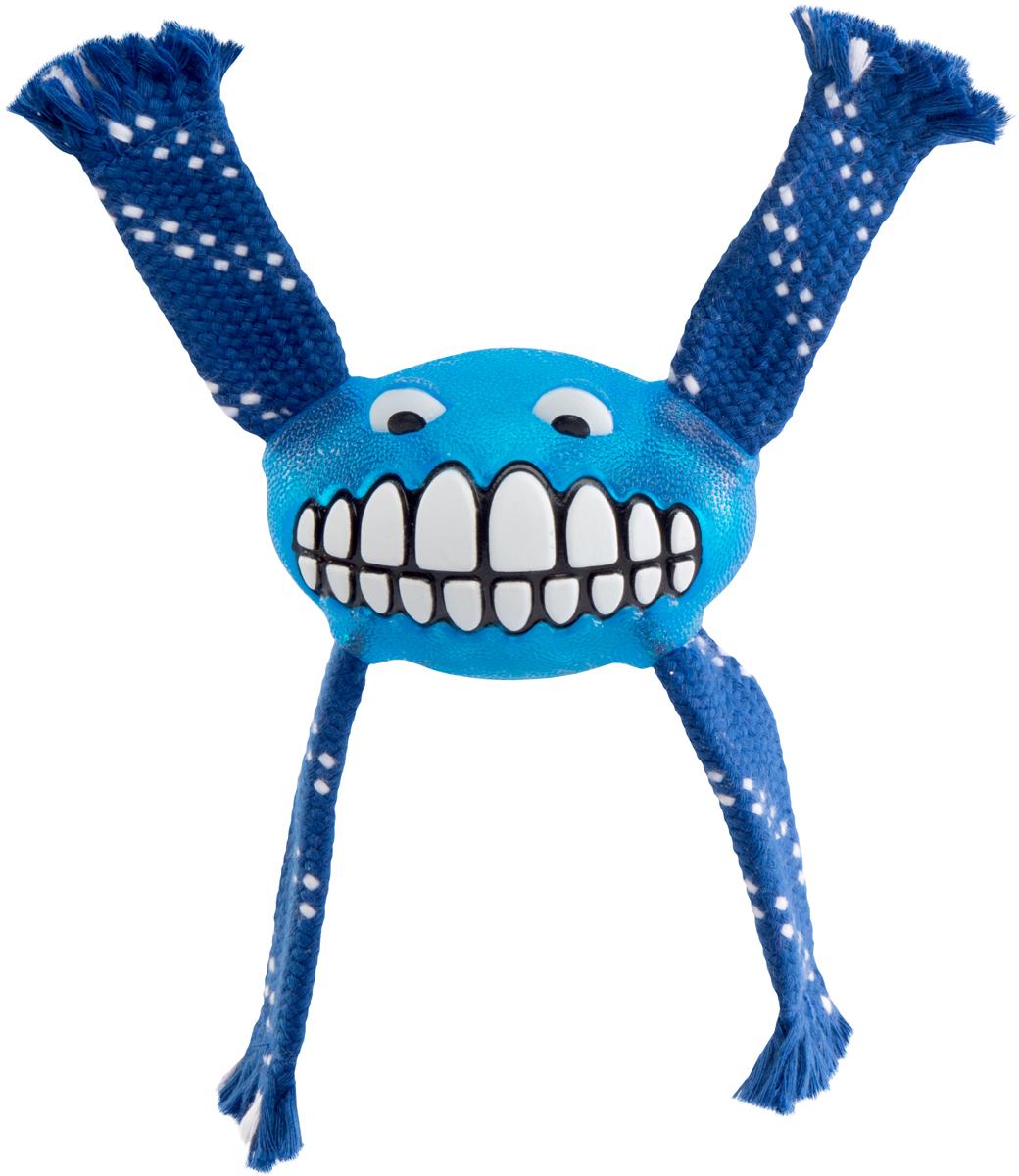 Игрушка для собак Rogz  Flossy Grinz. Зубы , цвет: синий, длина 16,5 см