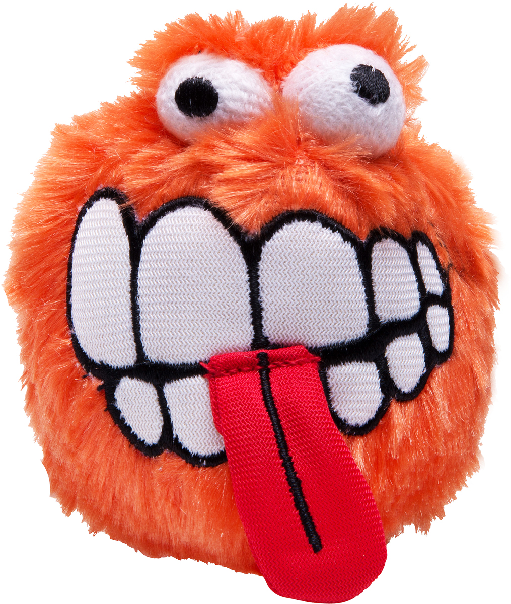 Игрушка для собак Rogz  Fluffy Grinz. Зубы , цвет: оранжевый, диаметр 7,8 см