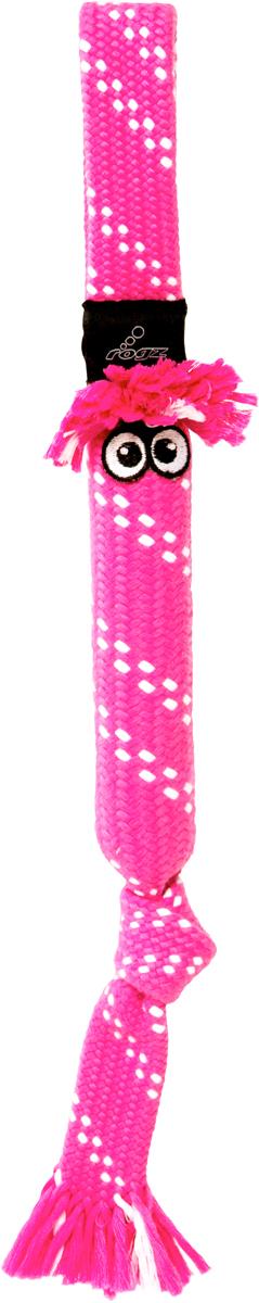 Игрушка для собак Rogz  Scrubz. Сосиска , цвет: розовый, длина 44 см