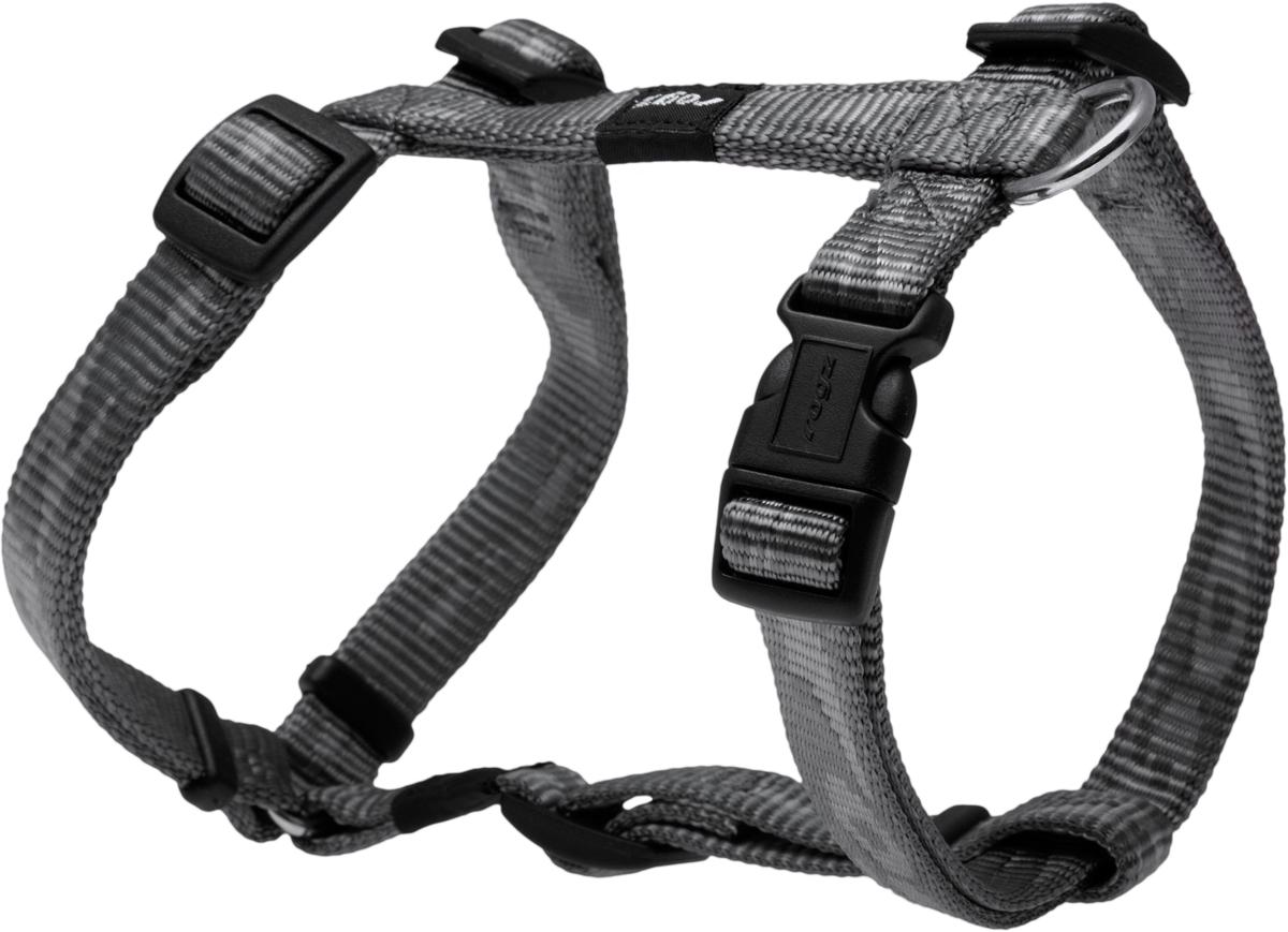 Шлейка для собак Rogz  Alpinist , цвет: серый, ширина 1,6 см. Размер M