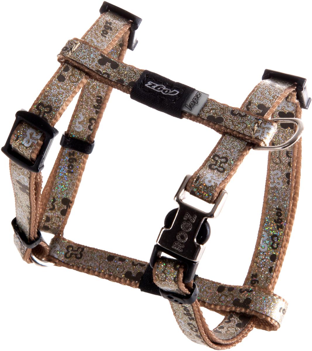 Шлейка для собак Rogz  Trendy , цвет: коричневый, ширина 0,8 см. Размер XS