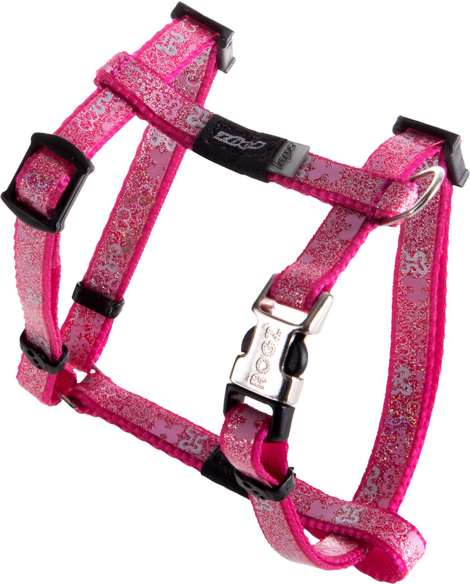 Шлейка для собак Rogz  Trendy , цвет: розовый, ширина 0,8 см. Размер XS