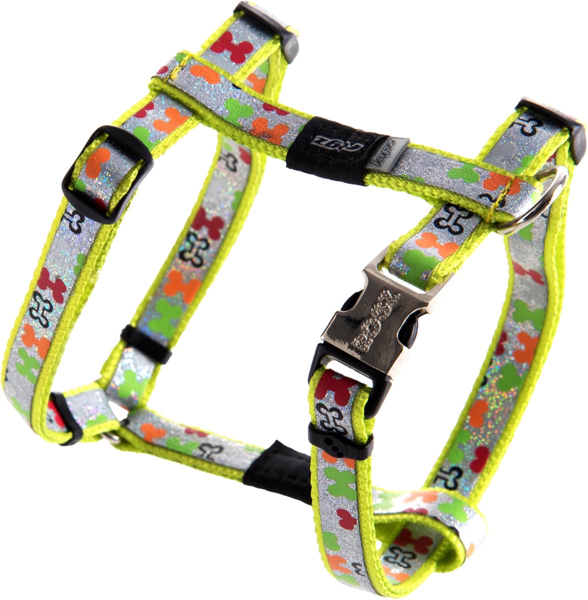 Шлейка для собак Rogz  Trendy , цвет: салатовый, ширина 1,2 см. Размер S