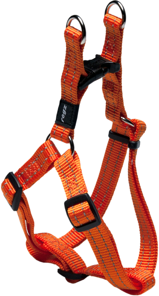 Шлейка разъемная для собак Rogz  Utility , цвет: оранжевый, ширина 1,6 см. Размер M