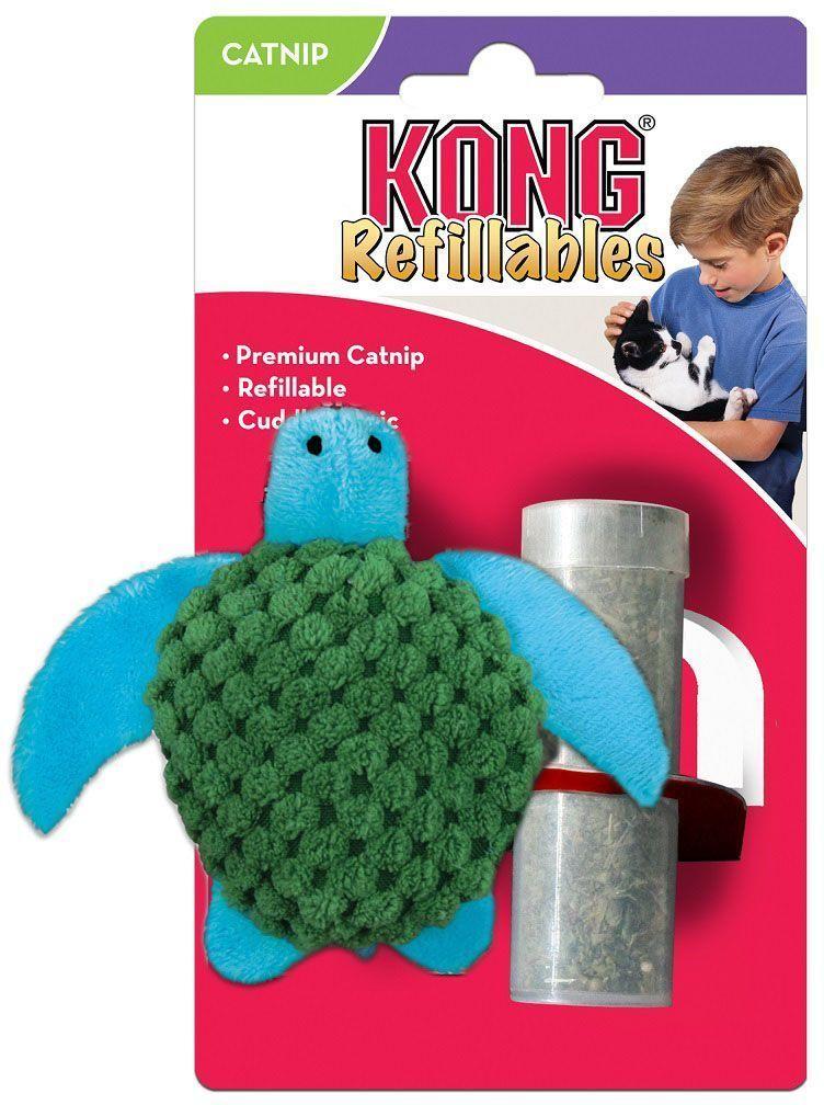 """Фото Игрушка для кошек Kong """"Черепашка"""", с тубом кошачьей мяты, длина 9 см. Купить  в РФ"""
