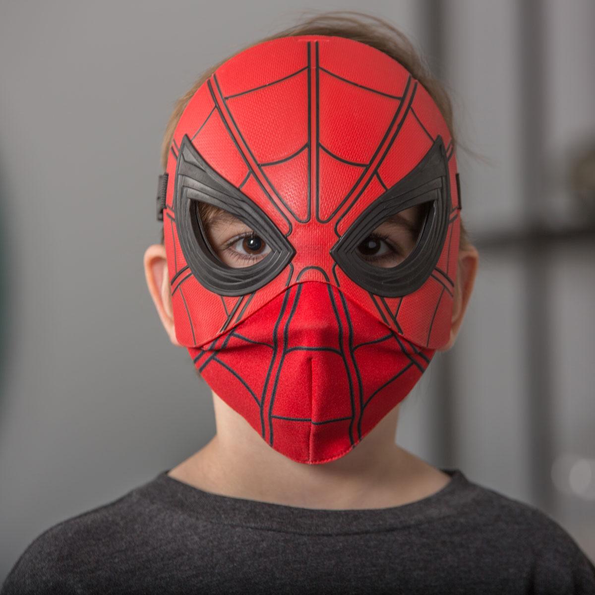 Как сделать из бумаги маску человека паука
