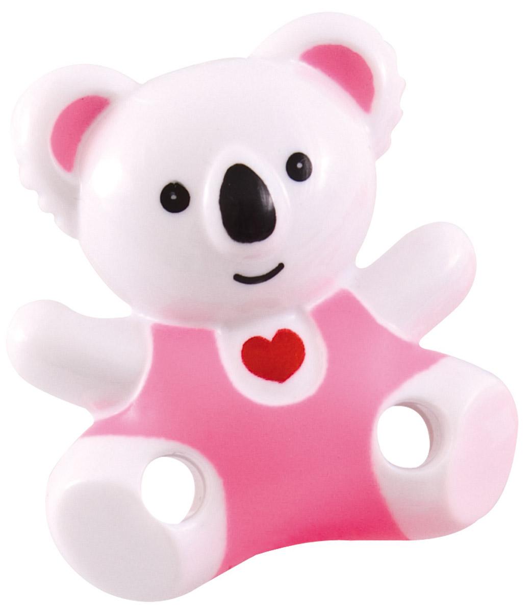 Canpol Babies Клипса-держатель для пустышки Медвежонок с сердечком цвет розовый -  Все для детского кормления