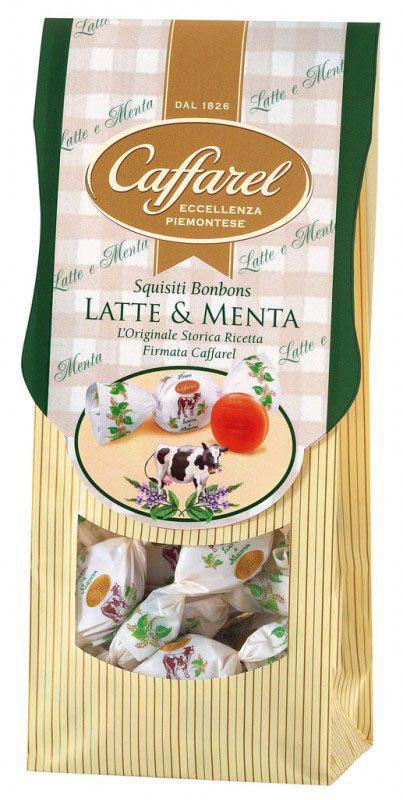 Фото Caffarel карамель со вкусом молока и мяты, 180 г. Купить  в РФ
