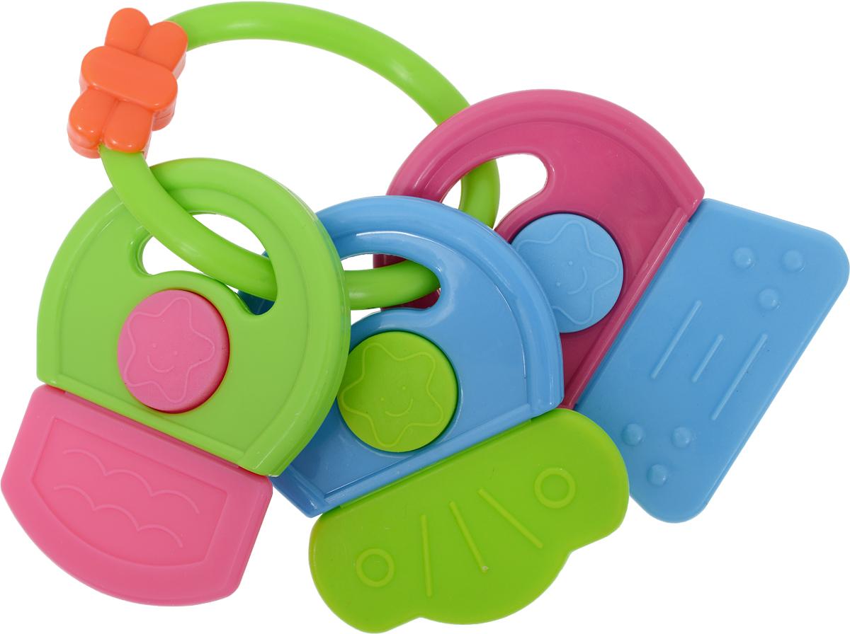 Фото Canpol Babies Погремушка-прорезыватель Ключи с символами цвет голубой зеленый. Купить  в РФ