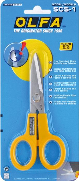 Ножницы многофункциональные  Olfa , с микрозубьями, длина лезвия 4,5 см -  Канцелярские ножи и ножницы