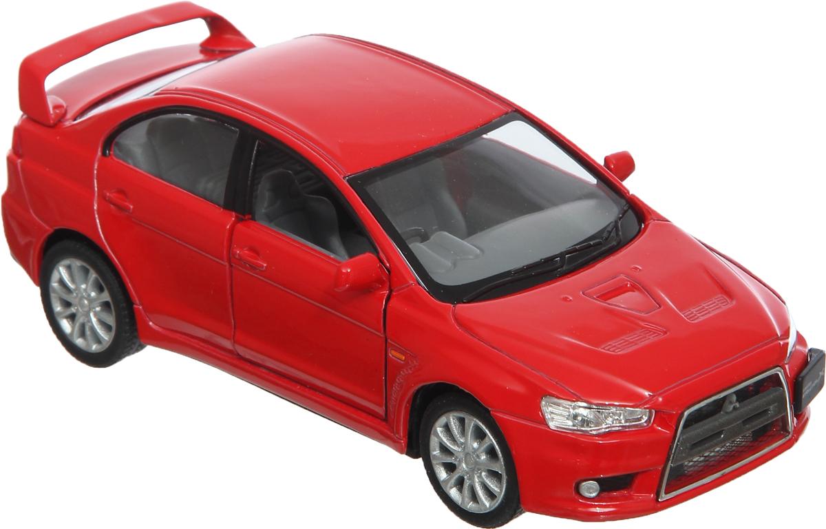 Фото Kinsmart Модель автомобиля Mitsubishi Lancer цвет красный. Купить  в РФ