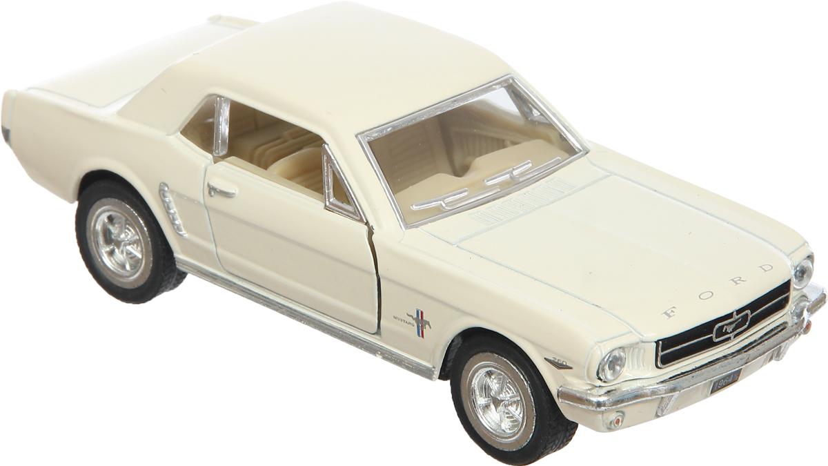 Фото Kinsmart Модель автомобиля Ford Mustang 1964 1/2 цвет белый. Купить  в РФ