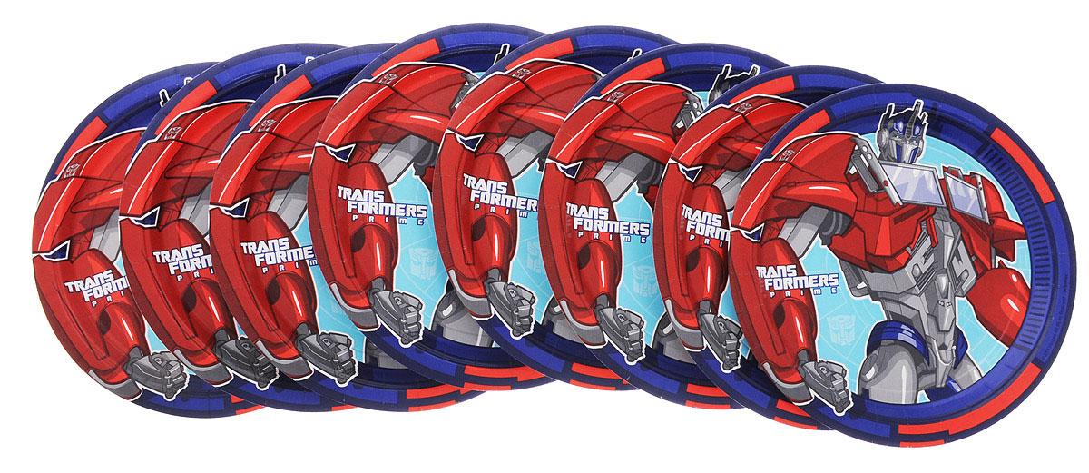 Amscan Тарелка Трансформеры 23 см 8 шт -  Сервировка праздничного стола