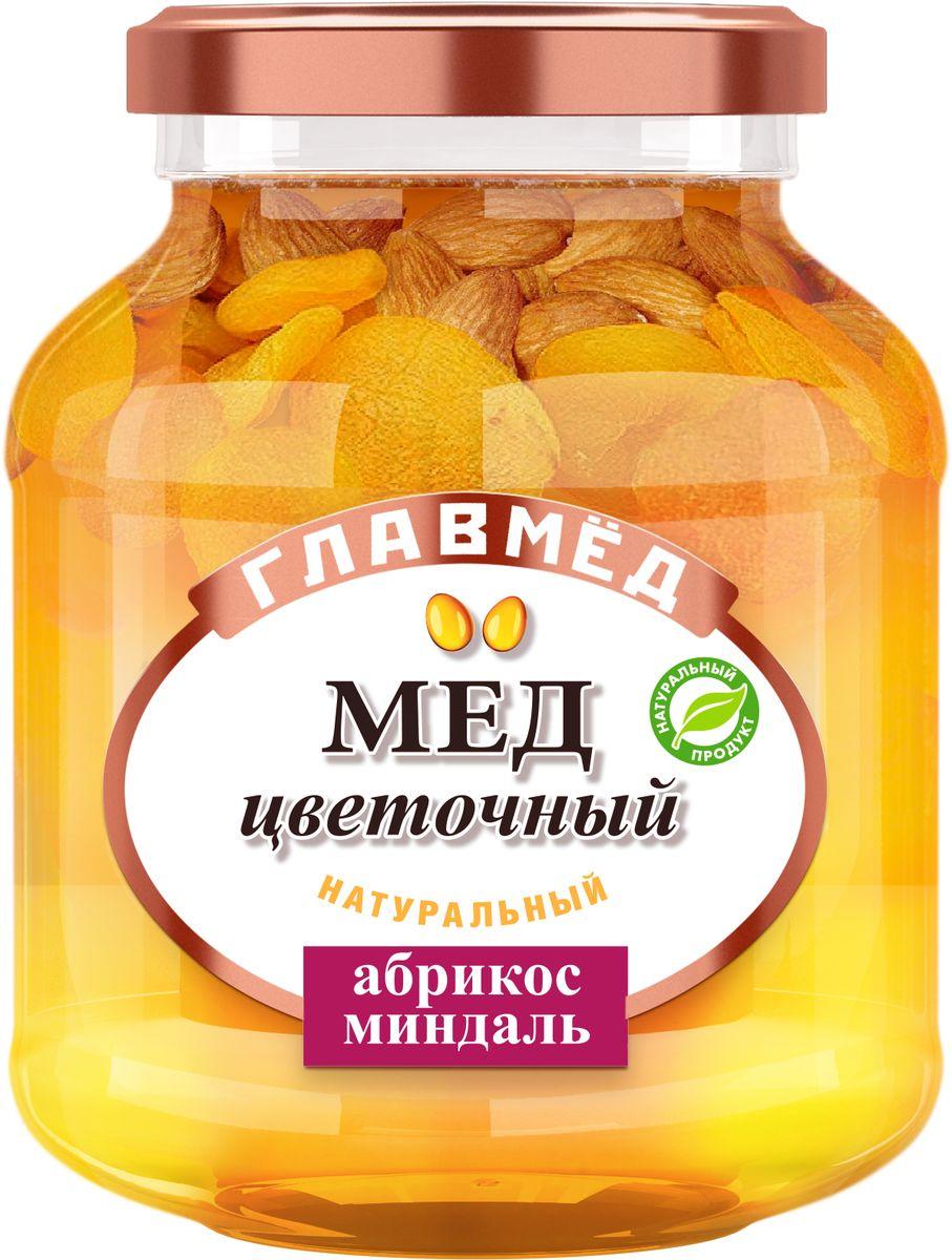 Фото Главмед мед с абрикосом и миндалем, 450 г. Купить  в РФ