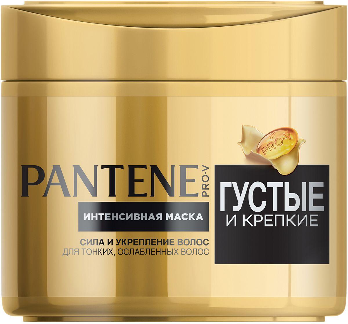 Фото Pantene Pro-V Маска Густые и крепкие, 300 мл. Купить  в РФ