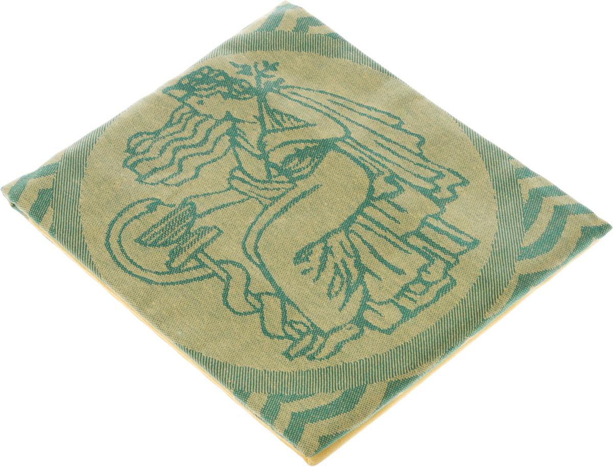 """Фото Простыня для бани и сауны """"Гаврилов-Ямский Лен"""", цвет: желтый, зеленый, 100 х 150 см. 1со4399. Купить  в РФ"""