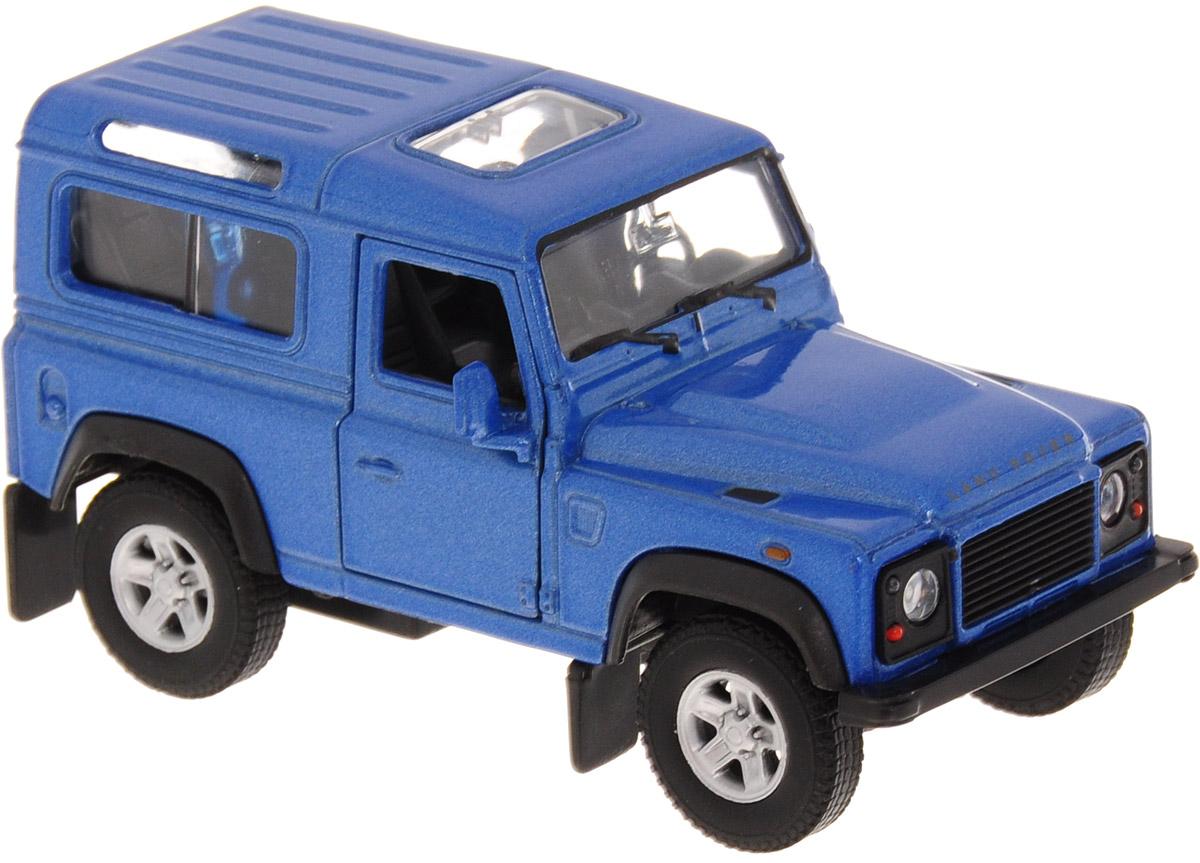 Фото Welly Модель автомобиля Land Rover Defender цвет синий. Купить  в РФ