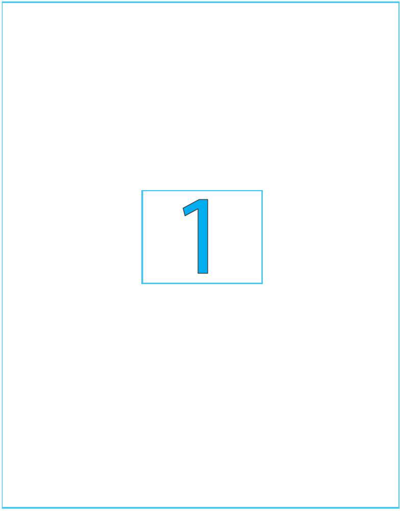 Фото Brauberg Этикетка самоклеящаяся 21 х 29,7 см цвет белый 50 листов. Купить  в РФ