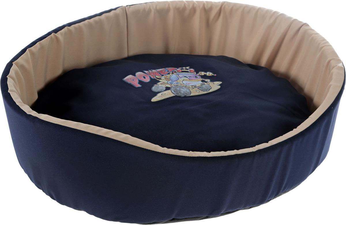 Лежак для животных GLG  Картинка , цвет: синий, бежевый, 54 x 46 x 17 см