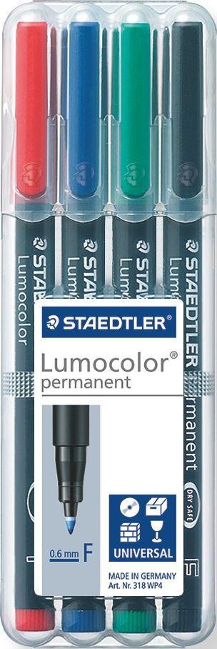 Фото Staedtler Набор перманентных маркеров Lumocolor 318 F 4 цвета. Купить  в РФ
