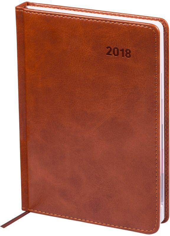 Фото OfficeSpace Ежедневник Vesper Index 2018 датированный 176 листов в линейку цвет коричневый формат A5. Купить  в РФ