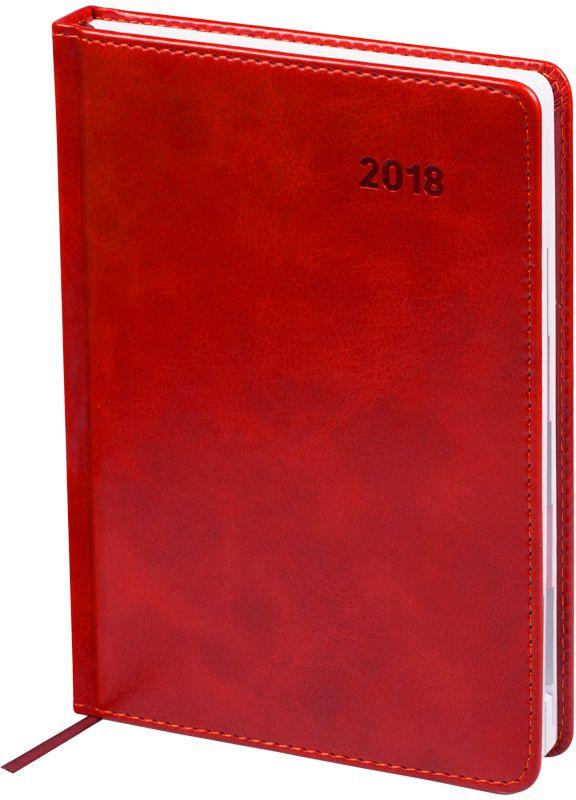 Фото OfficeSpace Ежедневник Vesper Index 2018 датированный 176 листов в линейку цвет бордовый формат A5. Купить  в РФ