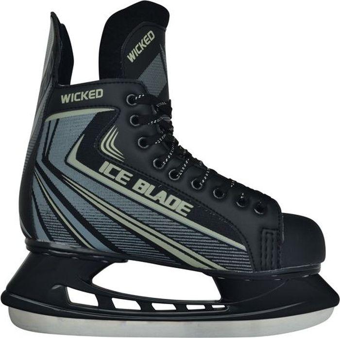 """Коньки хоккейные для мальчика Ice Blade """"Wicked"""", цвет: серый, черный. Размер 35"""