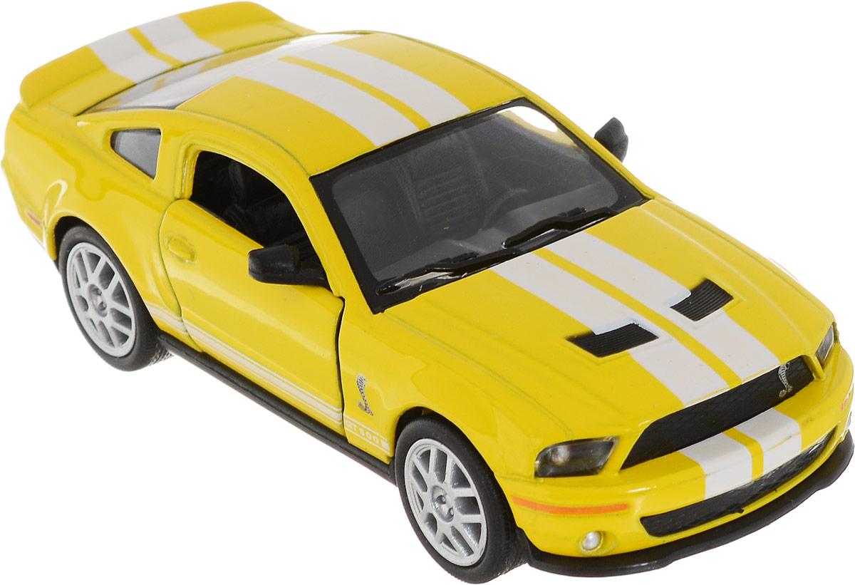 Фото Kinsmart Модель автомобиля 2007 Ford Shelby GT500 цвет желтый. Купить  в РФ