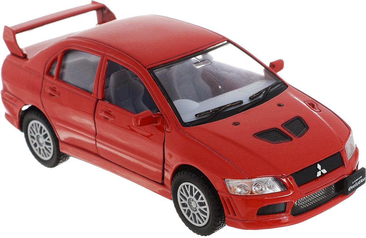 Фото Kinsmart Модель автомобиля Mitsubishi Lancer Evolution VII цвет красный. Купить  в РФ