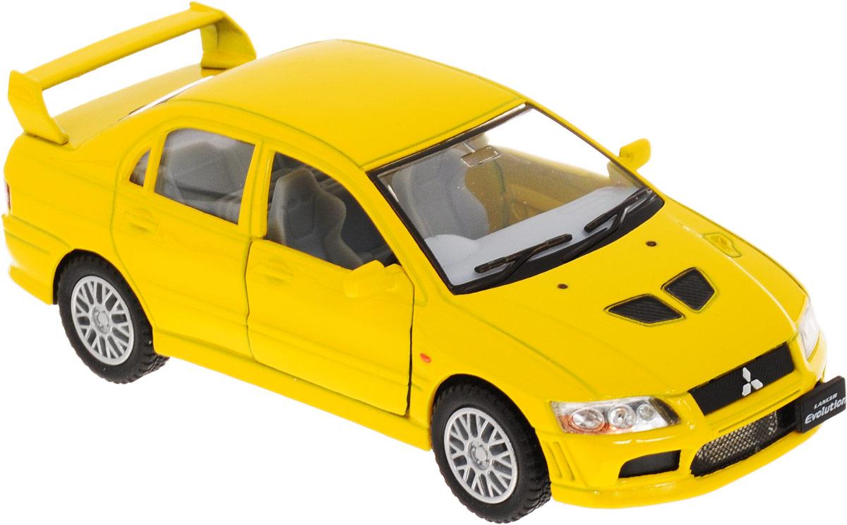Фото Kinsmart Модель автомобиля Mitsubishi Lancer Evolution VII цвет желтый. Купить  в РФ