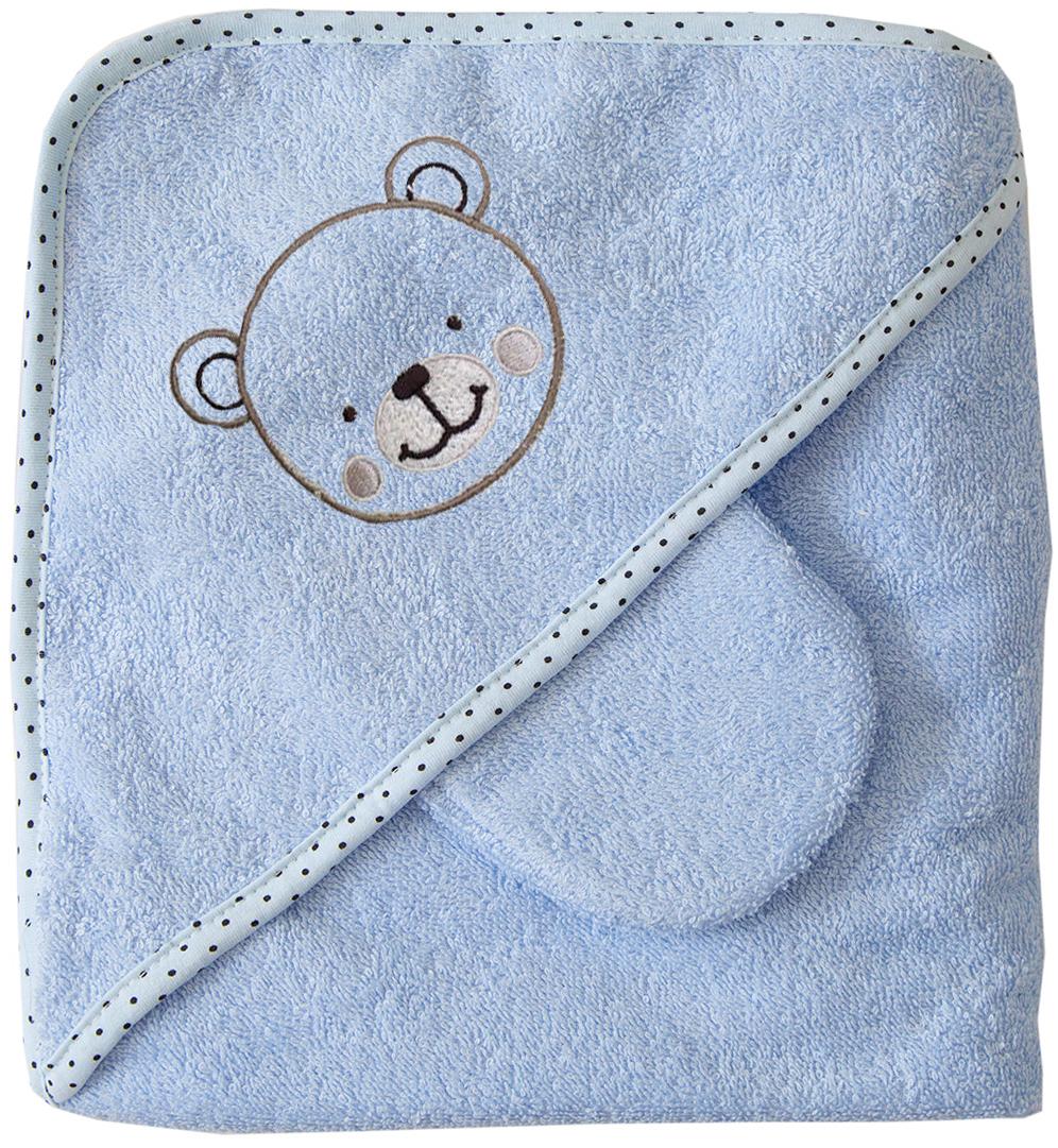 Baby Nice Полотенце детское Уголок цвет голубой -  Все для купания