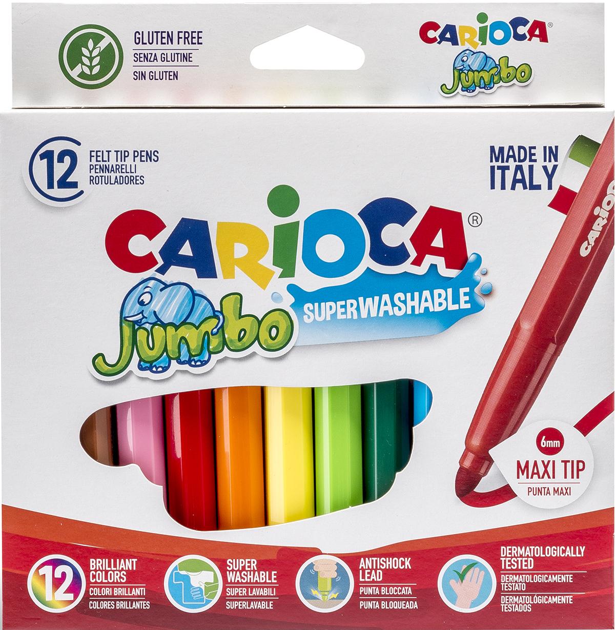 Набор фломастеров  Carioca Jumbo , 12 цветов -  Фломастеры