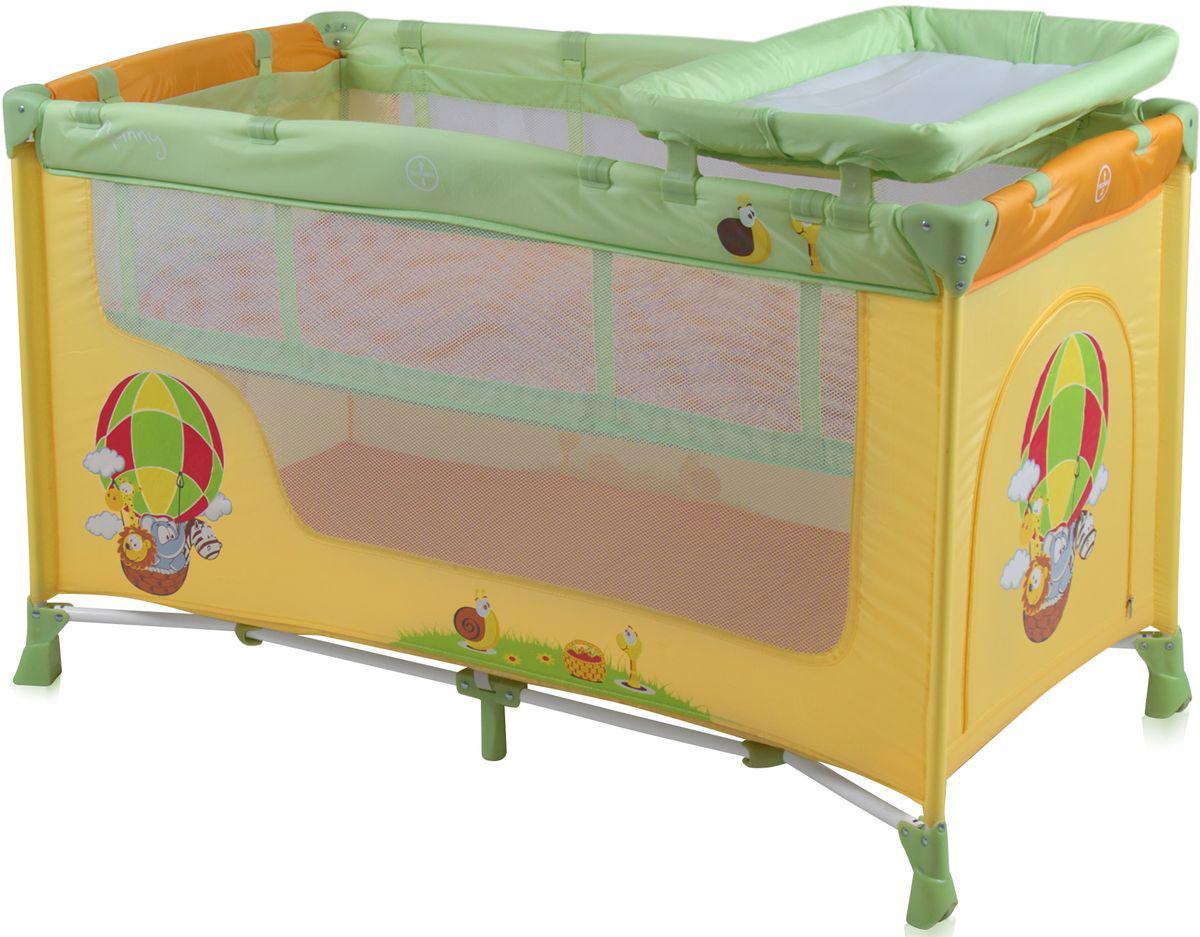Lorelli Манеж-кроватка Nanny 2 цвет желтый, салатовый -  Детская комната