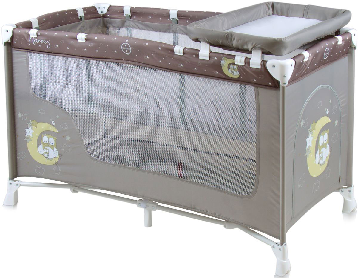 Lorelli Манеж-кроватка Nanny 2 цвет серый -  Детская комната