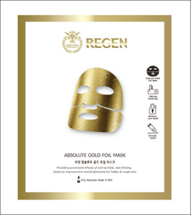 Фото Regen антивозрастная маска с золотой фольгой, 25 мл. Купить  в РФ