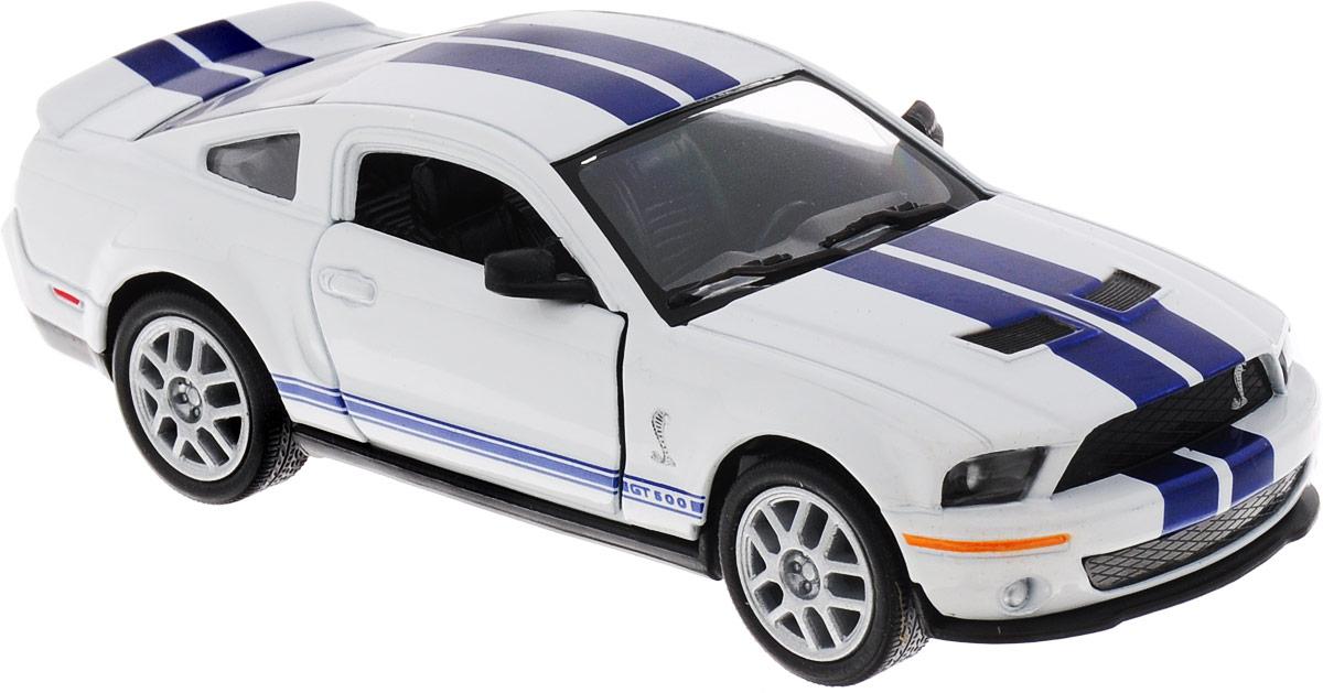 Фото Kinsmart Модель автомобиля Ford 2007 Shelby GT500 цвет белый. Купить  в РФ