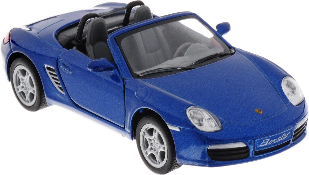 Фото Kinsmart Модель автомобиля Porsche Boxster S цвет синий. Купить  в РФ